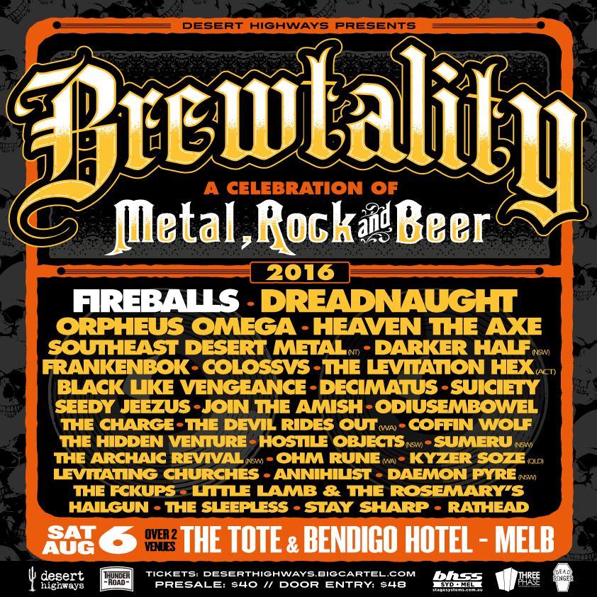 Brewtality Metal Festival - Melbourne