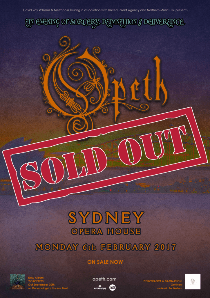 Opeth Sydney SOLD OUT