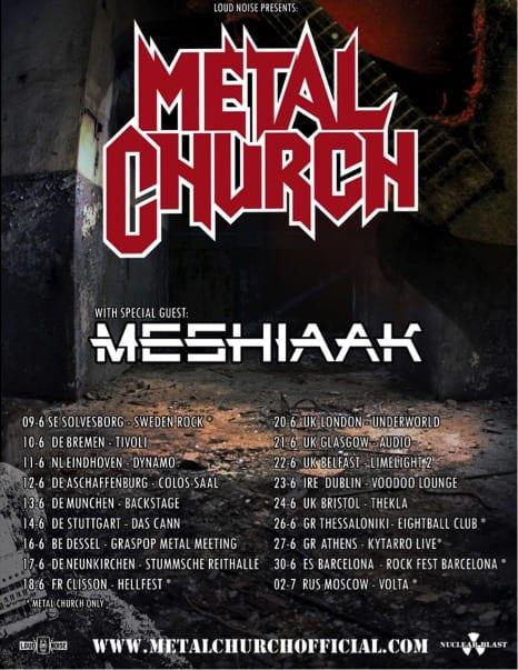 Meshiaak & Metal Church Tour Poster