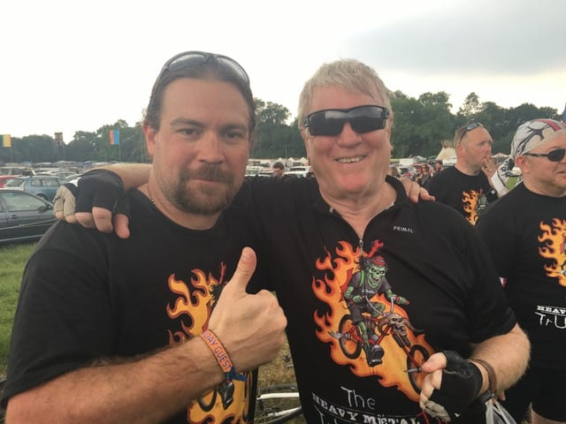 Chris Maric and Rod Smallwood after completing Heavy Metal Truants 2016!