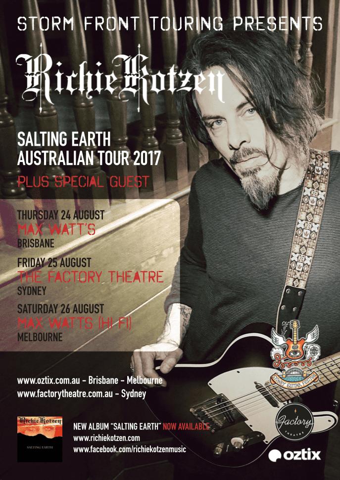 Richie Kozen Australian Tour