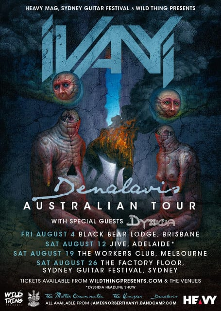 JAMES NORBERT IVANYI August Tour Supports Announced