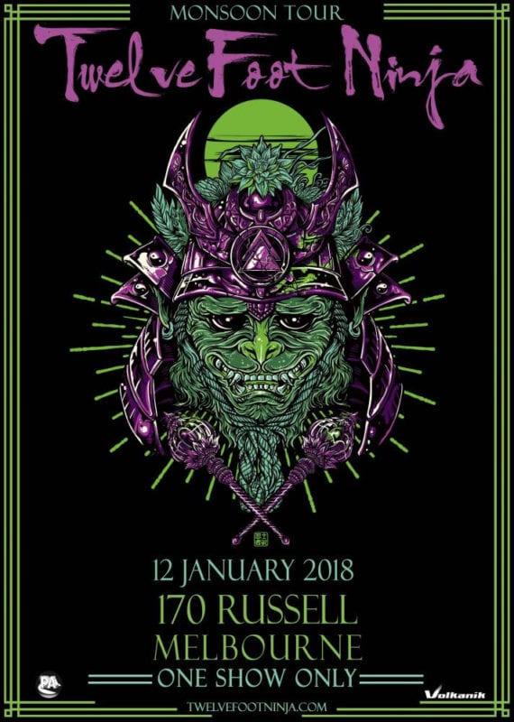 "Twelve Foot Ninja ""Moonshine"" Australian Tour poster"