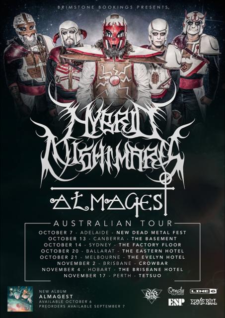 Hybrid Nightmares Australian Tour Dates Poster