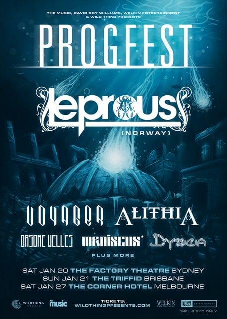 Progfest 2018 Line Up Poster