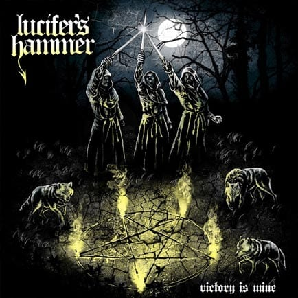 Lucifer/'s Hammer Band Beyond The Omens 2016 Album Cover T-Shirt