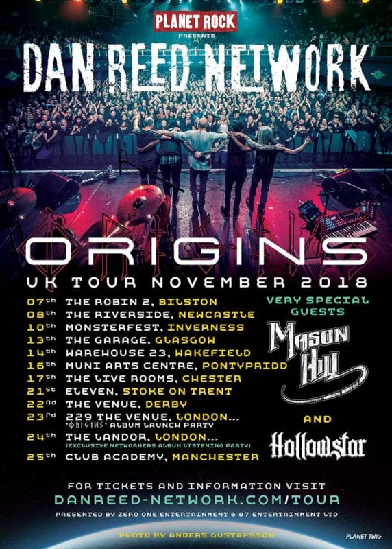 Dan Reed UK Tour