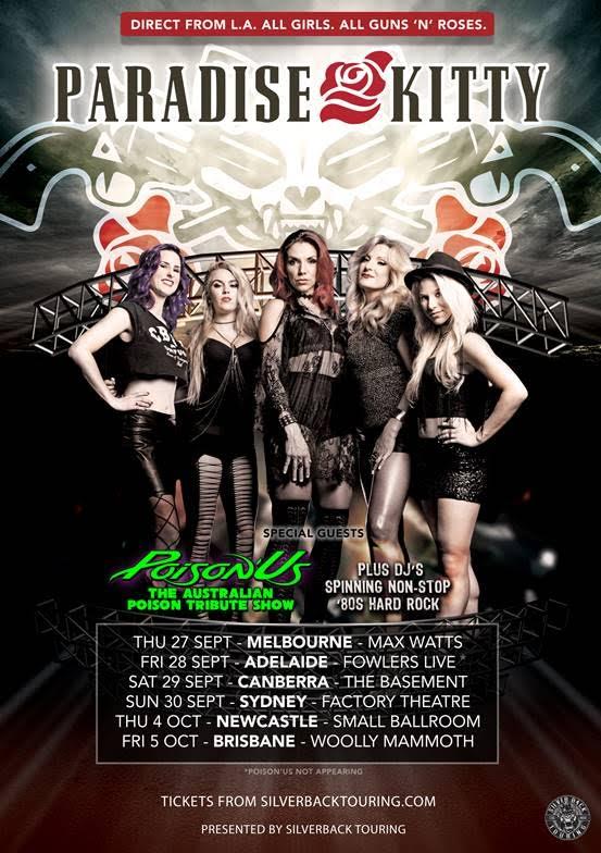 Paradise-Kitty-Tour-Poster Guns N Roses Tribute