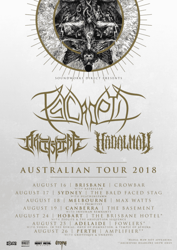 Psycroptic-Archspire-and-Hadal-Maw-Tour Poster