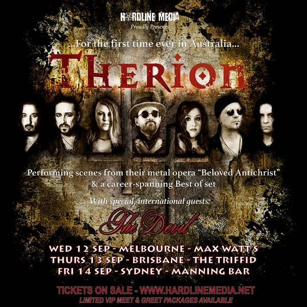 THERION Australian Tour Poster