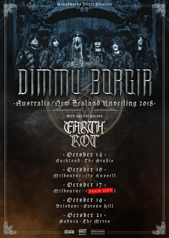 Dimmu Borgir Earth Rot 2018 Australia