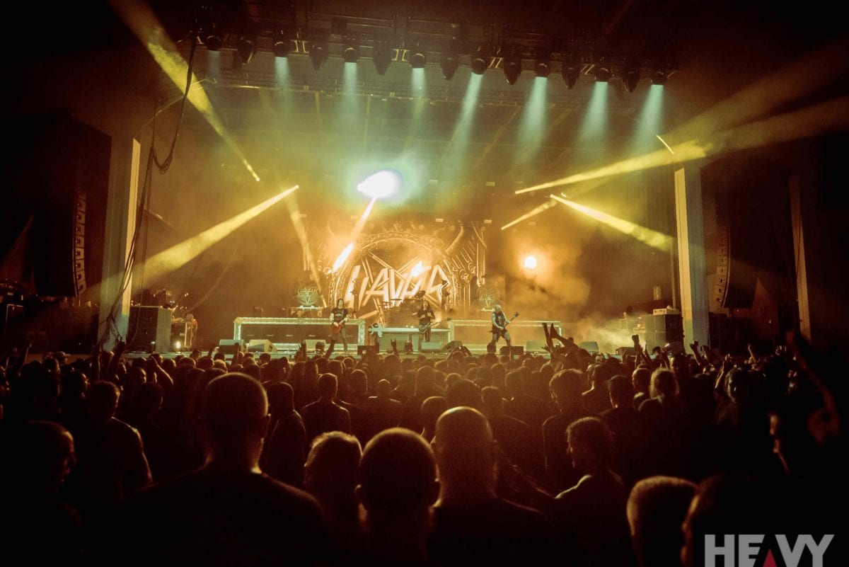 slayer at the bank of new hampshire pavilion gilford nh usa 26 7 18 heavy magazine music. Black Bedroom Furniture Sets. Home Design Ideas
