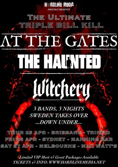AT THE GATES, THE HAUNTED and WITCHERY