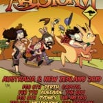 Alestorm Australian and NZ Tour poster