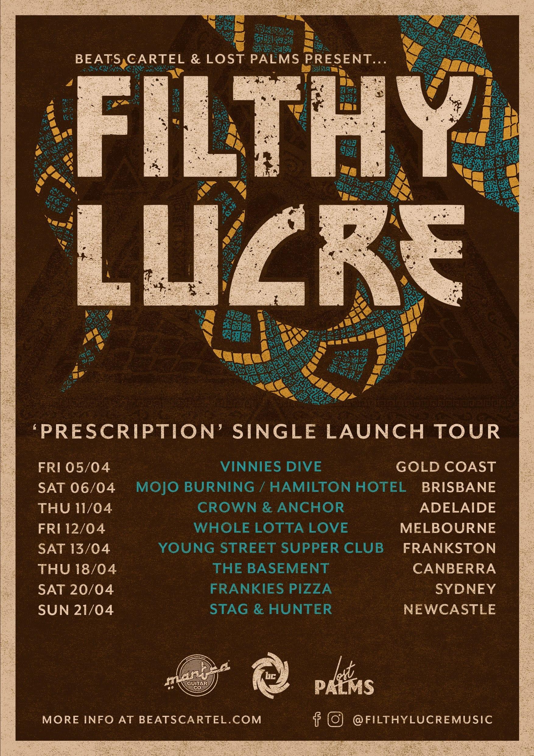 """Filthy Lucre - """"Prescription"""" Tour HEAVY Magazine"""