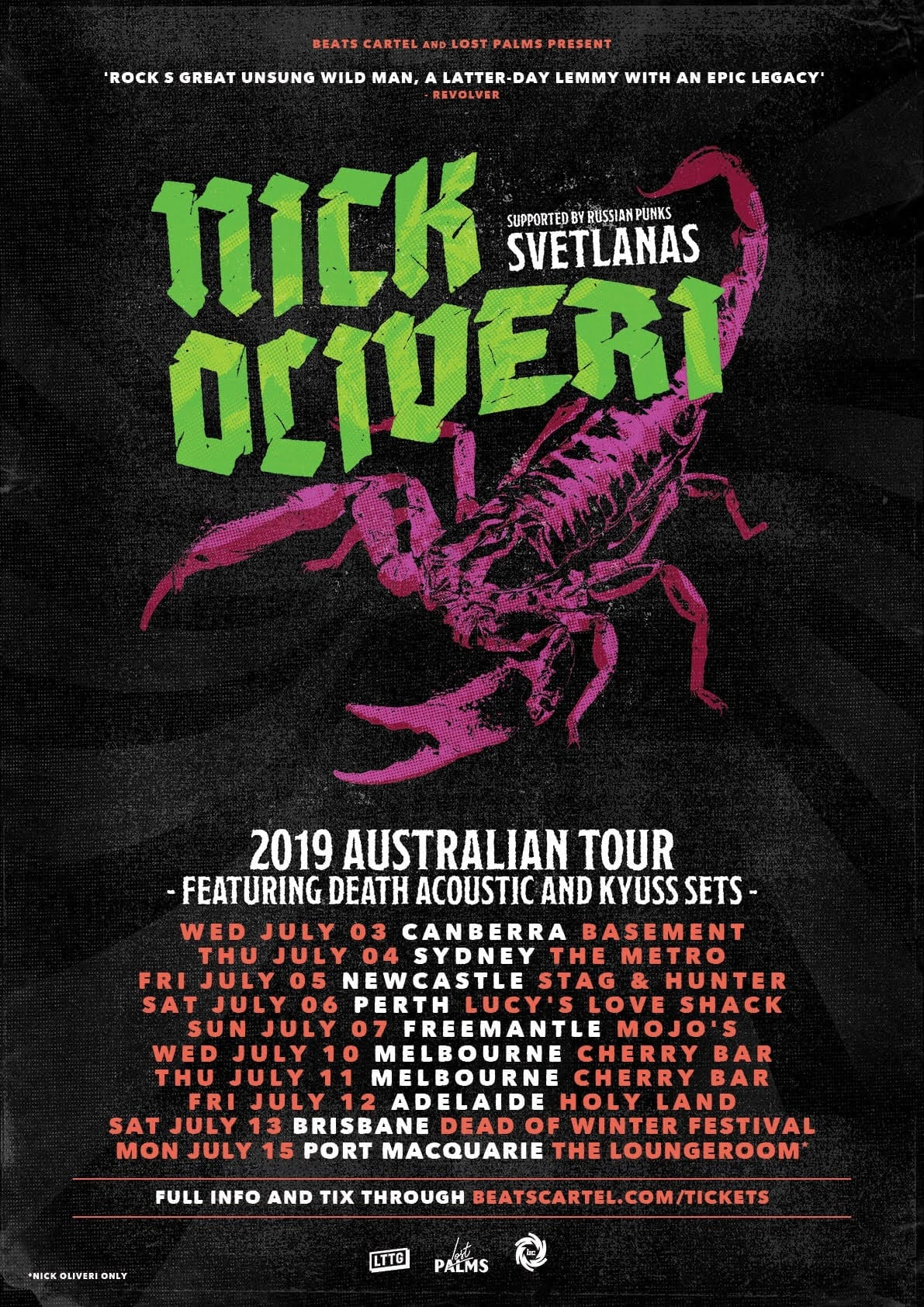 Nick Oliveri Australian Tour - HEAVY Magazine