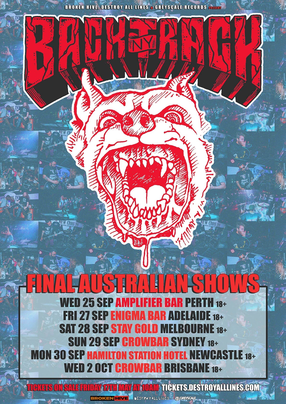 Backtrack Tour Dates poster
