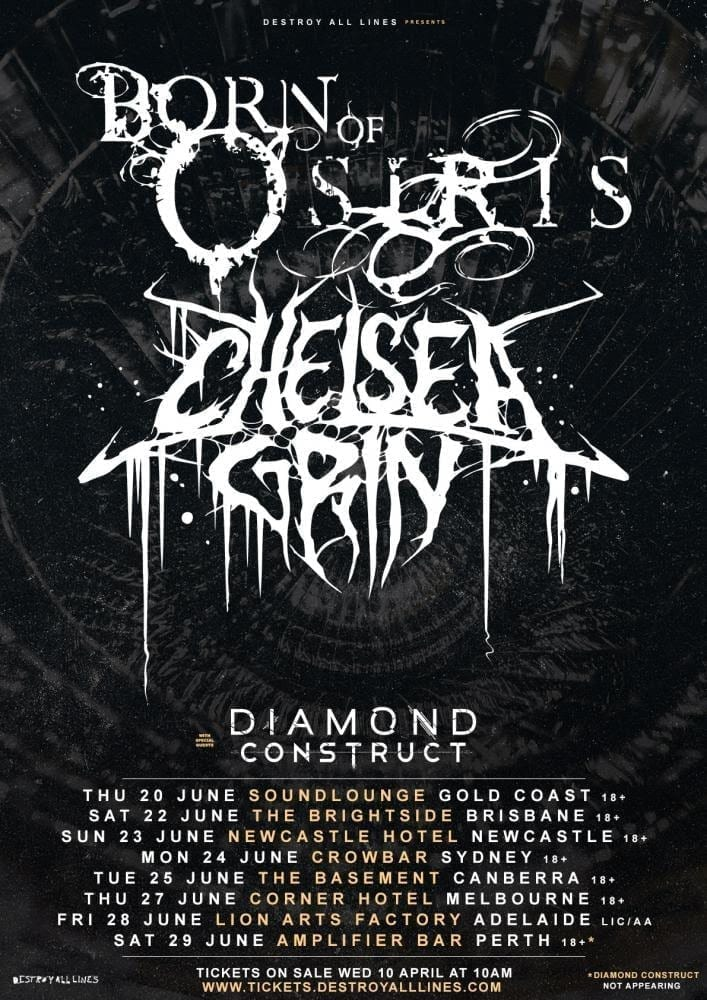 Born Of Osiris and Chelsea Grin Australian Tour - HEAVY Magazine
