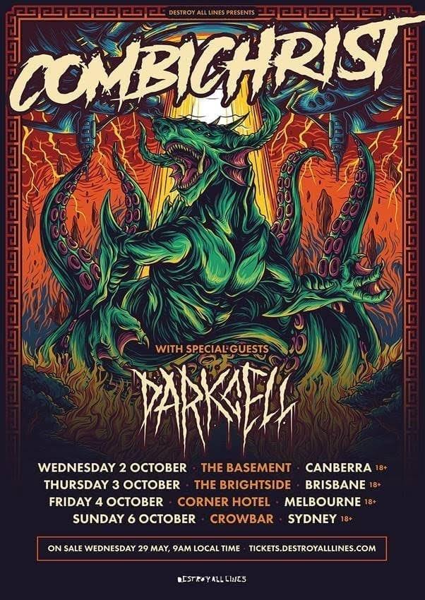 COMBICHRIST Australian Tour Poster