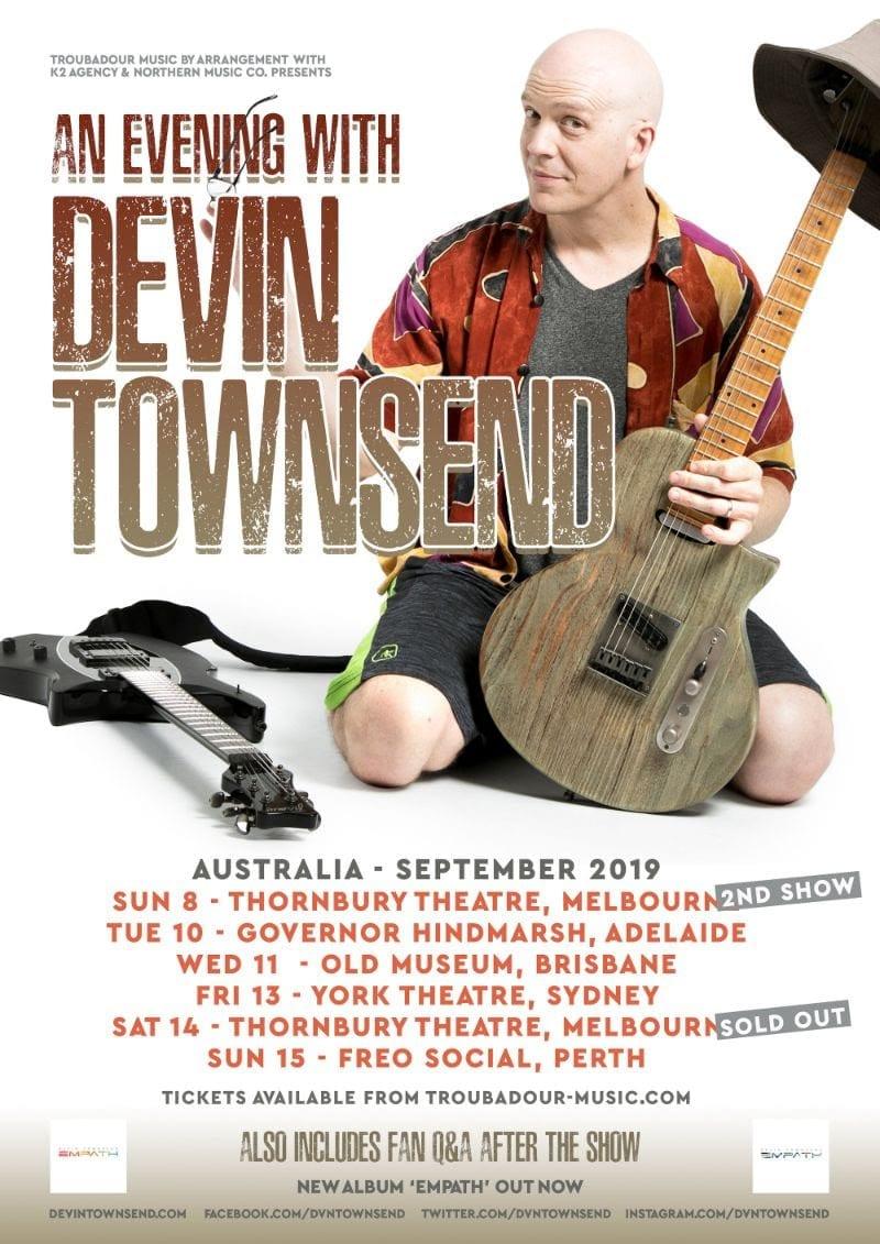 DEVIN TOWNSEND Australian Tour - HEAVY Magazine