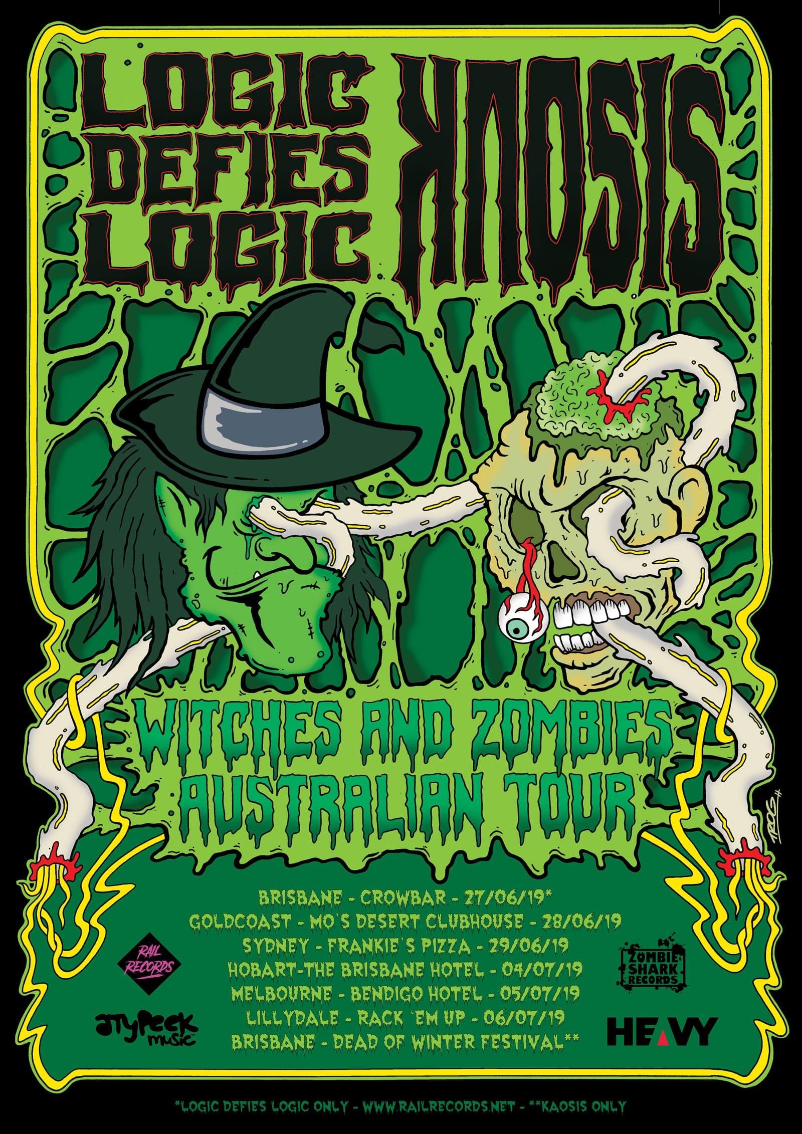 Koasis Australian Tour Poster - HEAVY Magazine