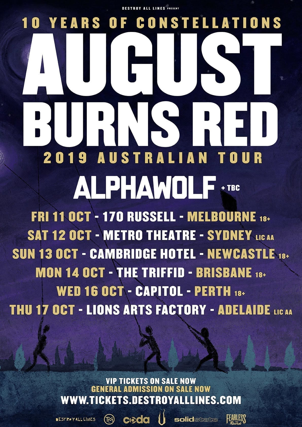 August Burns Red - Tour Poster - HEAVY Magazine