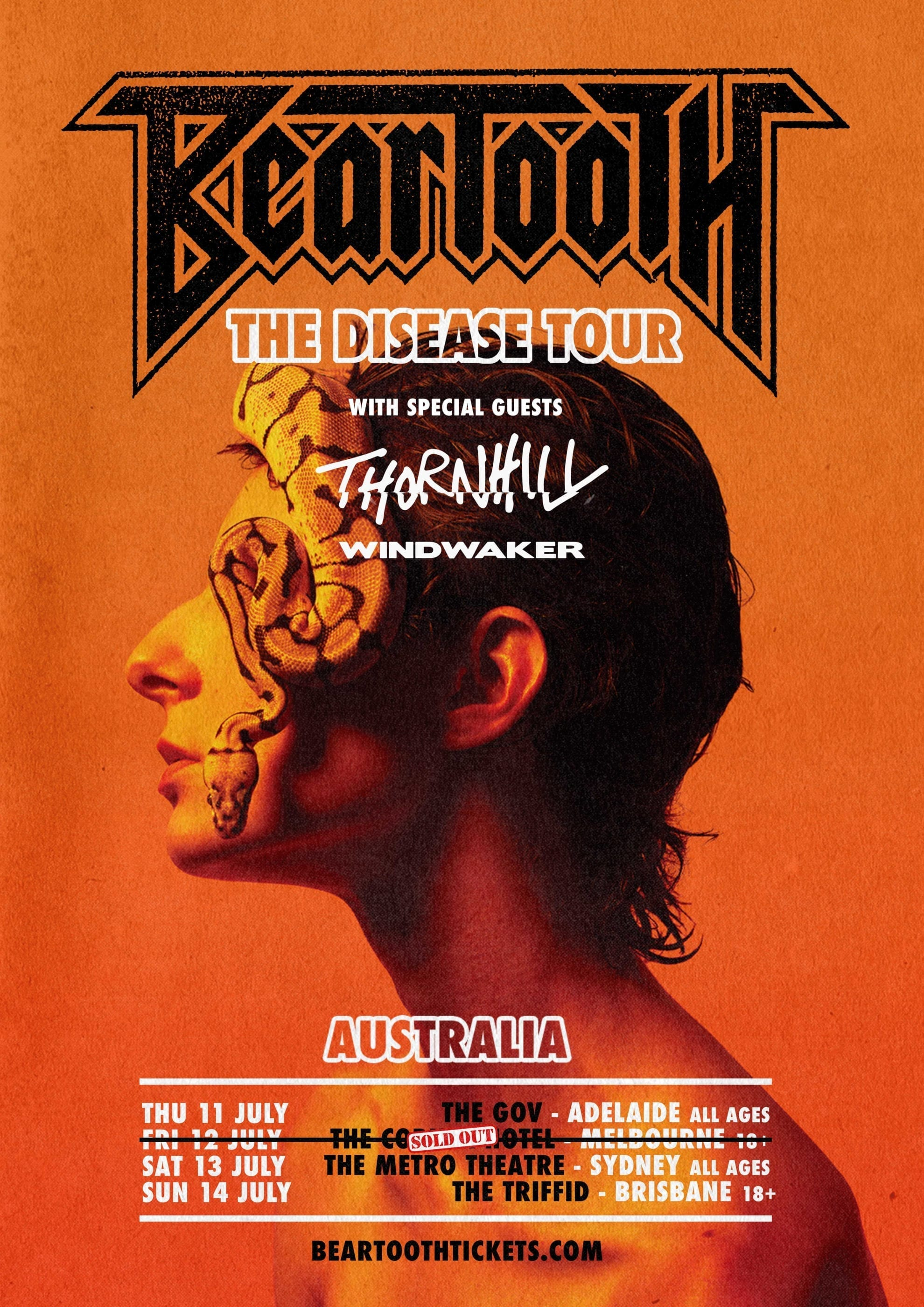 BEARTOOTH Tour Poster - HEAVY Magazine