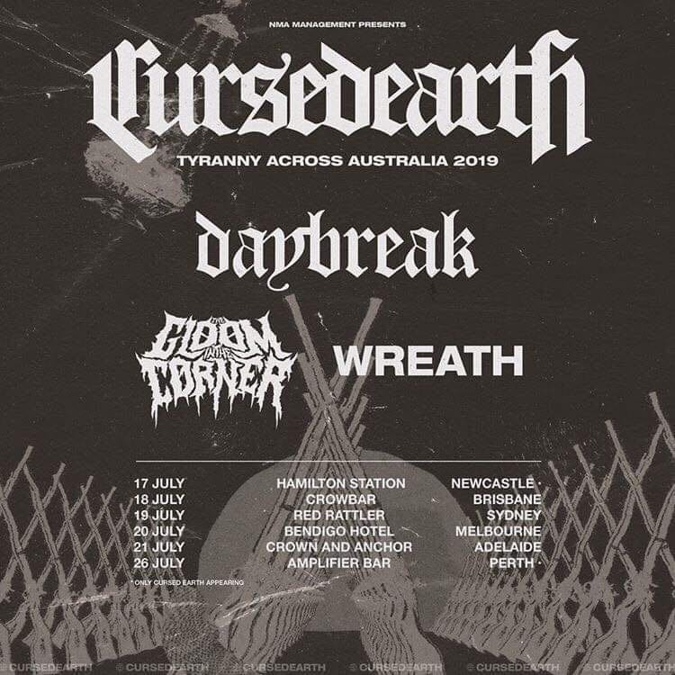 Cursed Earth Tour Dates - HEAVY