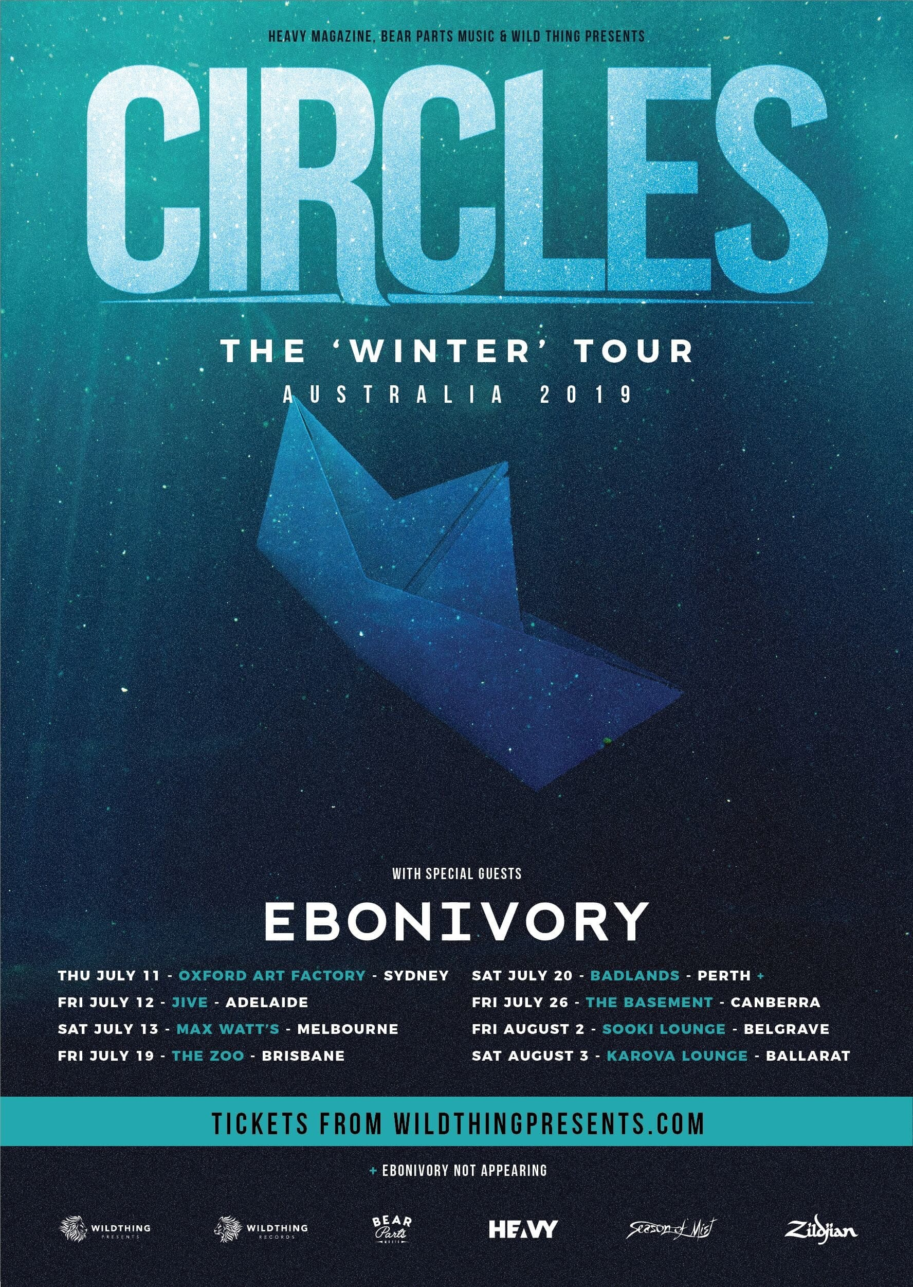 Ebonivory & Circles Tour Poster - HEAVY Magazine