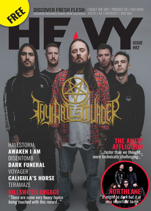 Cover of HEAVY Magazine - JUNE 19 - Issue #82