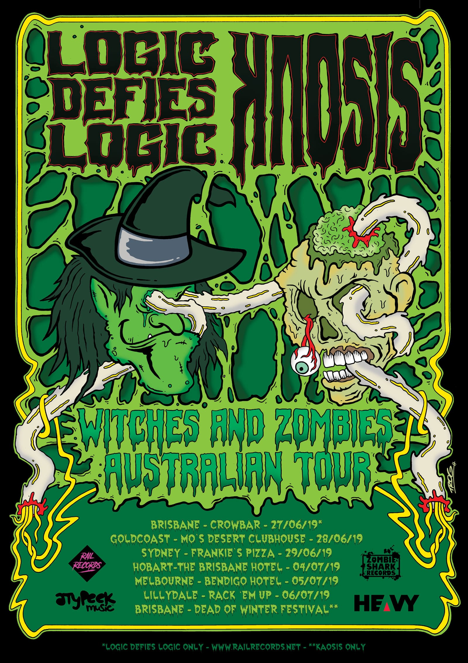 Logic Defies Logic and Kaosis - Tour poster - HEAVY-Magazine