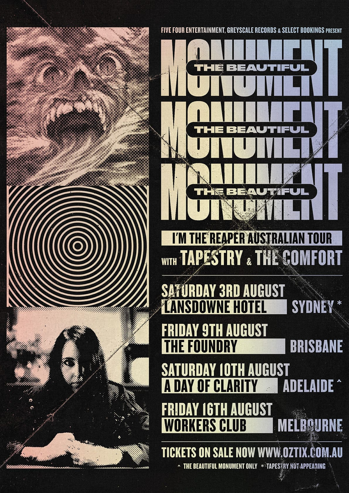 The Beautiful Monument Tour Dates