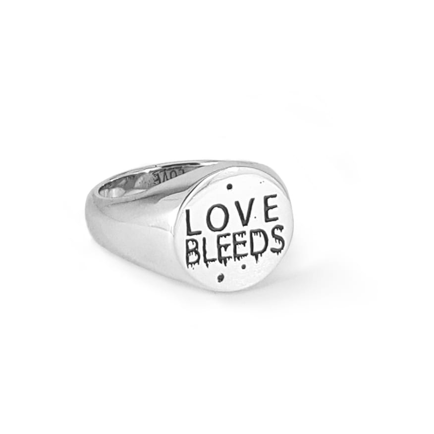 WOLVES Love Bleeds Signet Ring - Front - HEAVY Magazine