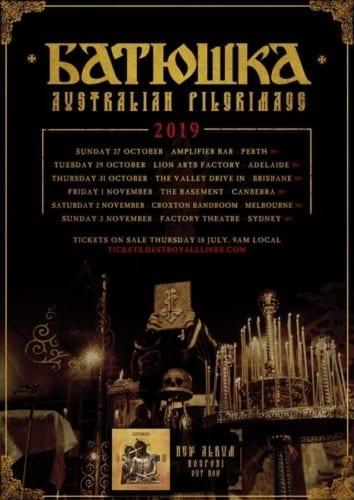 Batushka Australia Tour Poster