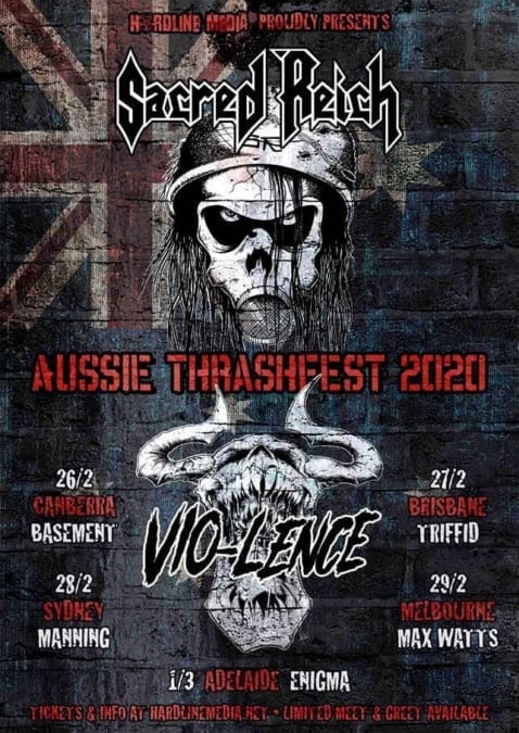 SACRED REICH and VIO-LENCE Australian Tour Dates - HEAVY Magazine