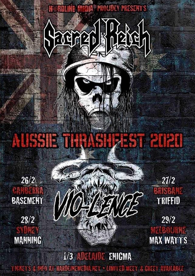 SACRED REICH and VIO-LENCE Australian Tour Dates - HEAVY Magazine