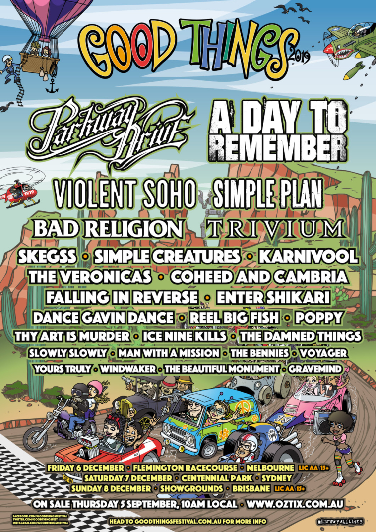 GOOD THINGS FESTIVAL 2019 Offical Line-Up! – HEAVY ...