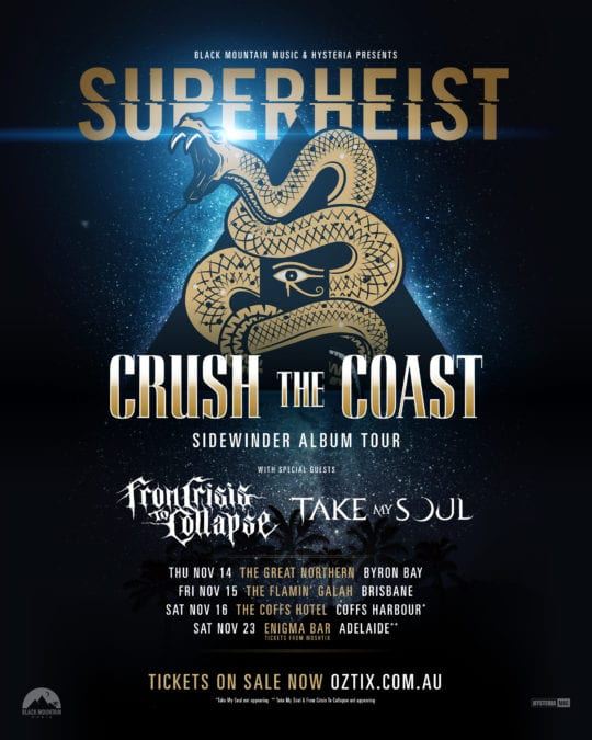 """SUPERHEIST Announce """"Crush The Coast"""" Tour with Crisis To Collapse"""