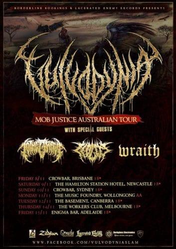 Vulvodynia Australia tour poster