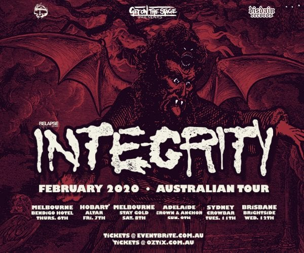 INTEGRITY To Tour Australia in February 2020