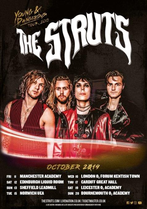 THE STRUTS and KING NUN at O2 Forum Kentish Town, London, UK on 16/10/19