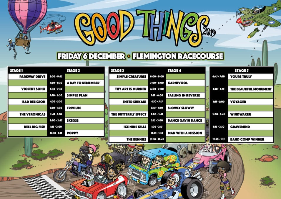 GOOD THINGS 2020 Timetable!
