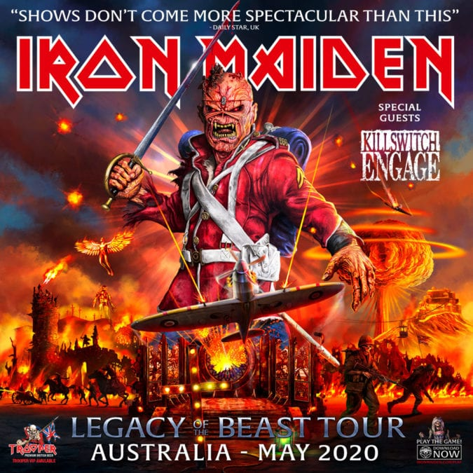 IRON MAIDEN add another Melbourne Show to the Tour!