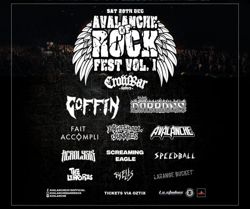 AVALANCHE OF ROCK FEST. – Sat Dec 28th, Crowbar, Sydney