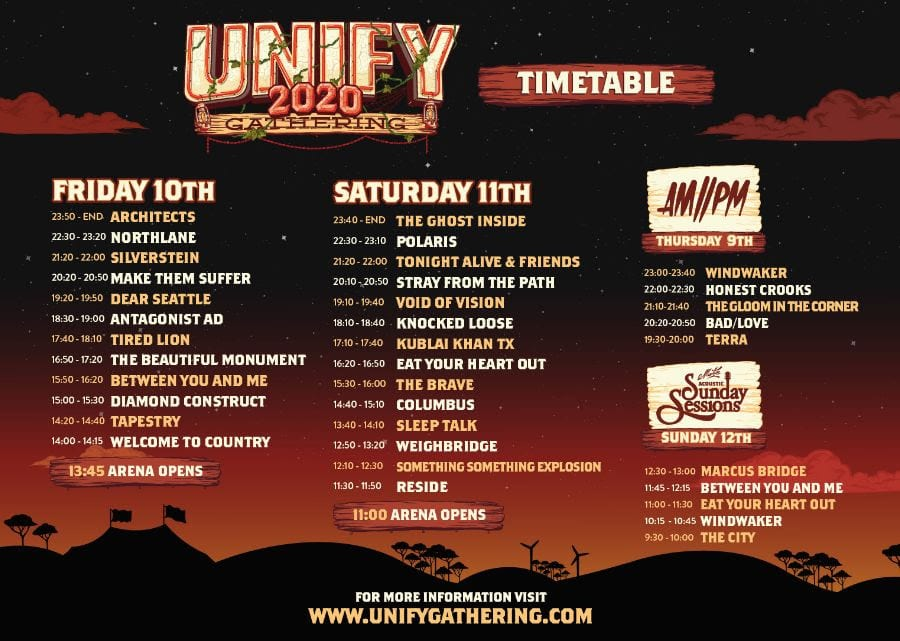 UNIFY GATHERING 2020 Timetable is Here!