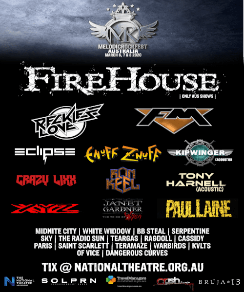 MELODIC ROCK FEST – 3 Days of Glam & Hair Metal – See the Full Lineup and Play Times Schedule!