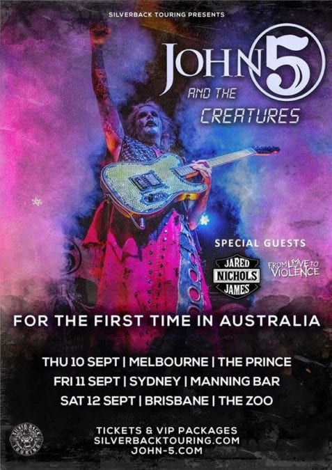 JOHN 5 AND THE CREATURES Announce Re-scheduled Dates