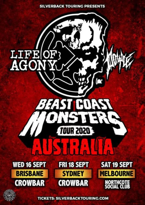 "LIFE OF AGONY and DOYLE Announce Re-scheduled ""Beast Coast Monsters Tour"" Dates"