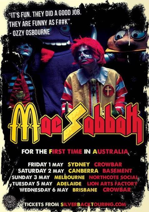 MAC SABBATH Announce May 2020 Australian Tour 🍔