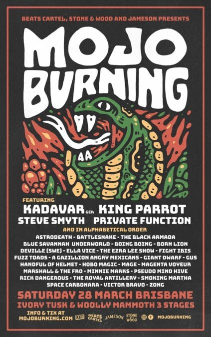 MOJO BURNING adds King Parrot and Private Function to the Festival